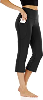 Yoga Flare Capri Pants for Women with Pockets