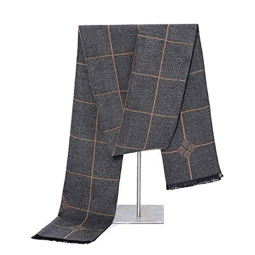 Junjiagao Mens Long Scarf für Winter Cashmere Fashion Formale warme Schals (Color : Brass, Size : OneSize)