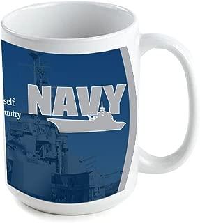VictoryStore Ceramic Mugs - Military, US Navy Coffee Mug, 15 ounces