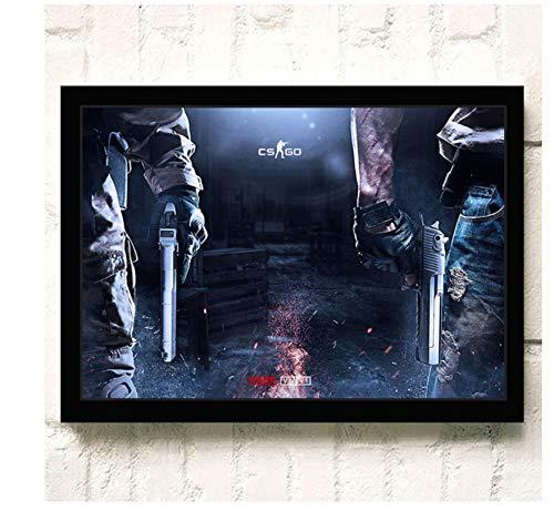asfrata265 Leinwand Wandkunst Hd Online-Spiele Csgo Poster Und Druck Leinwand Malerei Home Decor Wandbild Kein Rahmen G1110 (50X70Cm)