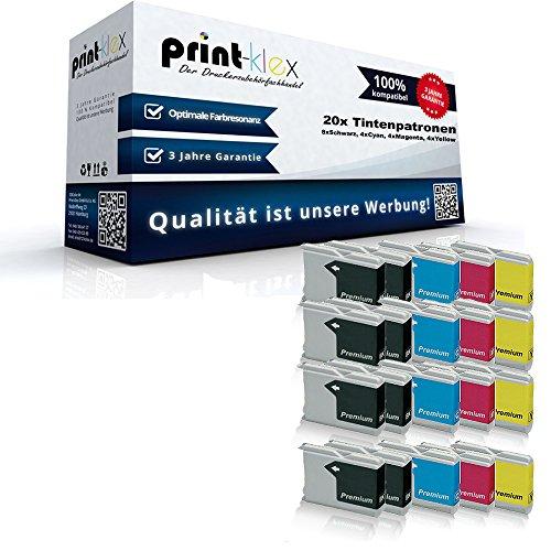 20x kompatible Tintenpatronen für Brother LC970 LC1000 MFC 235C MFC 240C MFC 260C MFC 465CN MFC 660CN MFC 665CW MFC 680CN MFC 685CW MFC 845CW - Sparpack - Büro Office Serie