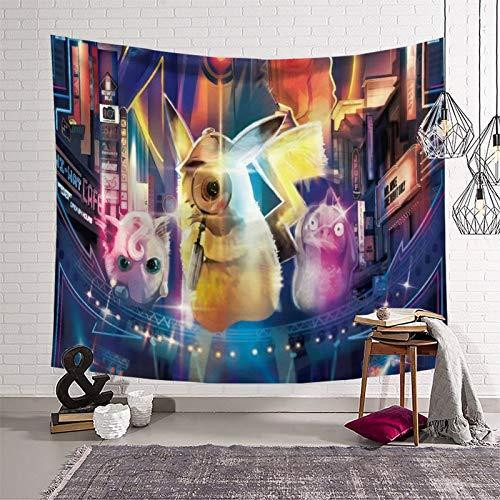 SSKJTC Tapiz para sala de estar Pokémon Manga Animación Decoración del hogar Tapices 50 x 60 pulgadas (130 x 150 cm)