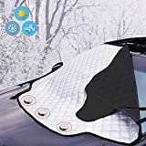 KEPLIN Car Windshield Cover, Heavy Duty Ultra Thick Protective Windscreen Cover - Protect From Snow Ice Frost Sun UV Dust Water Resistant for Cars SUVs All Year Round