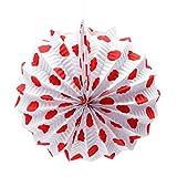 EuroFiestas Farolillo de Papel para decoración de Feria con Gancho Lunares Rojos