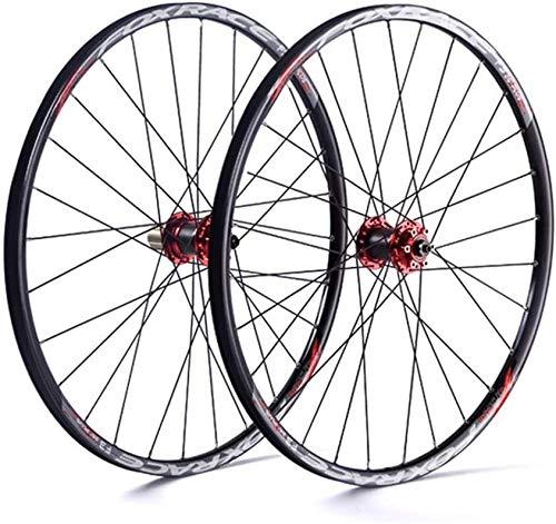 Ruedas De Bicicleta,llantas bicicleta 26 / 27.5' ultraligero de pared doble llantas de aluminio 24H ciclismo de montaña Rueda ruedas de la bici V-freno de llanta freno de disco de estreno de Fast 7/8/