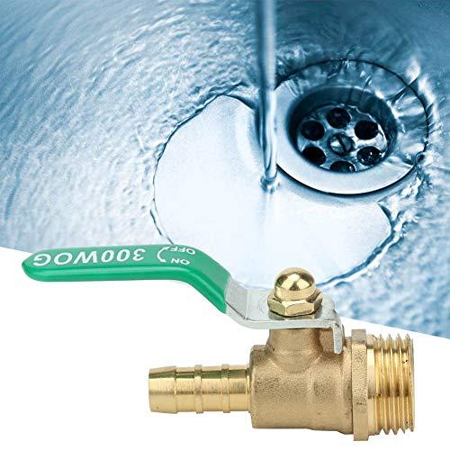 """Kugelhahn, G1/2""""Außengewinde Messingrohr Kugelhahn, verdickter Kugelhahn, grüner Hebelgriff, weit verbreitet im Bewässerungssystem, Anwendbares Medium: Luft, Wasser(8mm)"""