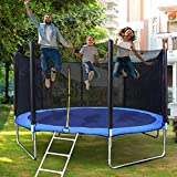 Eicaus 12 FT Trampoline with Safety Enclosure Net for Kids and Adults, Capacity 400 kg, Waterproof Jump Mat, Ladder