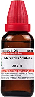 Willmar Schwabe Homeopathy Mercurius Solubilis (30 ML) (Select Potency) by USAMALL (30 CH)