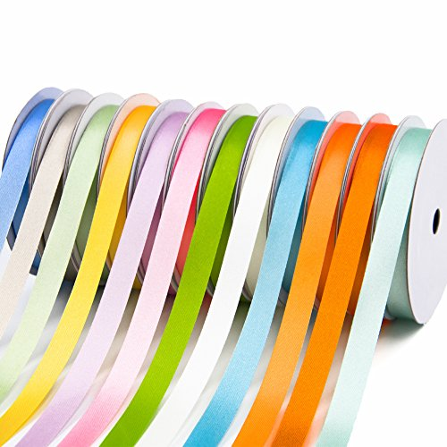Satin Ribbons Assorted Colors