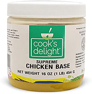 Cook's Delight Chicken Soup Base, Instant Chicken Stock, Bouillon, Chicken Broth, Gluten Free, Zero Trans Fat, Poultry Flavor, Makes 5-1/2 Gallons Chicken Soup Stock