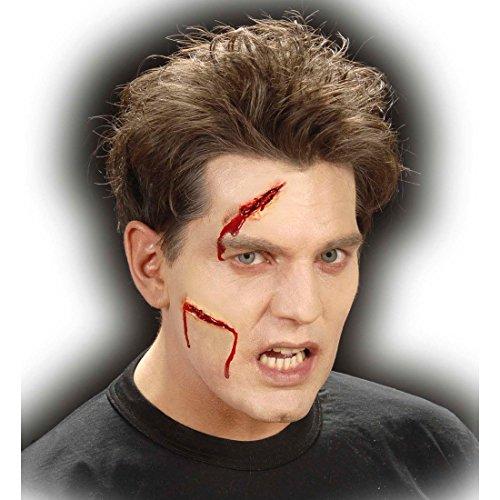 NET TOYS Latex Make up Wunden Schnittwunden Halloween Latex Applikationen Narben Gruselschminke Horrorschminke Halloweenschminke