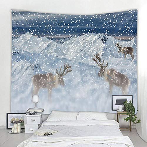 Tapiz de reno estilo bohemio colgante de pared sueño tela colgante mandala impresión tapiz sala de estar dormitorio decoración del hogar