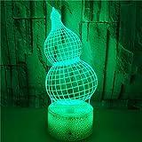 FREEZG lamparitas de noche dormitorio Calabaza niños creatividad arte Luces de noche para niños Lámpara de mesa 7 colores Control remoto táctil Decoración de dormitorio Cumpleaños para niños Regalo d
