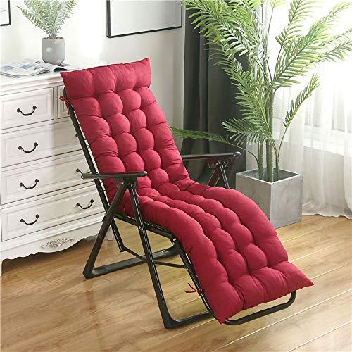 NoNo Hochwertige Liegen-Auflage Sitz-Polster , für Sonnenliegen Sauna Garten Terrasse Camping,Feste Qualität,dick und bequem,mit Schnürsenkeln,rutschfest,mehrere Farben