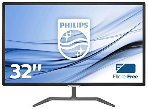 Philips 323E7QDAB/00 80 cm (31,5 Zoll) Monitor (VGA, DVI, HDMI, 1920 x 1080, 60 Hz, 5ms Reaktionszeit, mit Lautsprecher) schwarz