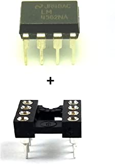 Juried Engineering LM4562NA LM4562 + Sockets Dual OpAmp DIP-8 (Pack of 2)