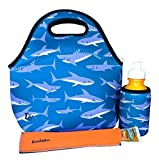 KOVERZ - 3 Piece Lunch Tote Set w/Freezer Pop Sleeve - CHOOSE YOUR STYLE! - Sharks