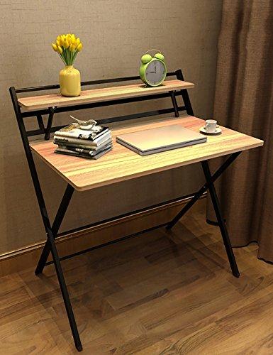 Bureau De Bureau Simple Ordinateur De Bureau De Table Pliante (4 Couleurs en Option) (Couleur : A, Taille : L*W*H: 85 * 61 * 93cm)
