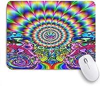ZOMOY マウスパッド 個性的 おしゃれ 柔軟 かわいい ゴム製裏面 ゲーミングマウスパッド PC ノートパソコン オフィス用 デスクマット 滑り止め 耐久性が良い おもしろいパターン (抽象的な奇抜なサイケデリック)