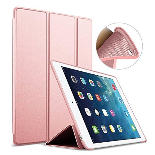 GOOJODOQ iPad Air 2 Hülle, iPad Air 2 PU Leder Etui Hülle Tasche mit Ständer Funktion & Eingebautem Magnet für Einschlaf/Aufwach Shockproof Silikon Weicher TPU Folio Hülle für Apple iPad Air 2