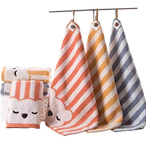 TENDUAGEN Lot de 3 Petites Serviettes en Coton 36 x 36 cm - Serviettes Multi-usages Extra-Douces pour Les Doigts