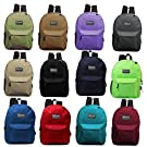 24 Pack - 17 Inch Classic Bulk Backpacks - Wholesale Case of 24 (Assorted Colors)