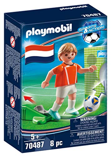 PLAYMOBIL- Sports & Action Jugador de Fútbol, Holanda, Multicolor (70487)