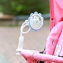 Camping Plein Air Si/ège Voiture Rose Voyages Ventilateur Clip de Landau USB Ventilateur de Bureau Silencieux de la Poussette sur Les Mini Rechargeables et Portables pour Lits B/éb/é