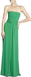 BCBG Maxazria Whitley Green Strapless Dress