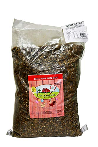 LITTLE FARMER PRODUCTS Chicken Fun-DOO Non-GMO, Soy-Free Chicken Treat   Premium Poultry Meal Worm, Vegetable & Herb Mix (25lbs)…