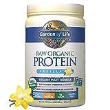 Garden of Life Raw Organic Plant Based Protein Powder Shake with Probiotics & Enzymes, Certified Vegan, Gluten & Sugar Free, Non-GMO, 4g BCAAs, 22g Protein, Vanilla, 20 Servings, 21.856 Oz
