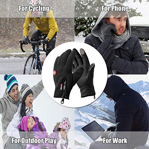 Opard Touchscreen Gloves Unisex Winter Warm Fleece Inner Lining Gloves Waterproof Non-Slip Abrasion Resistant Work Sports Outdoor Motorcycle