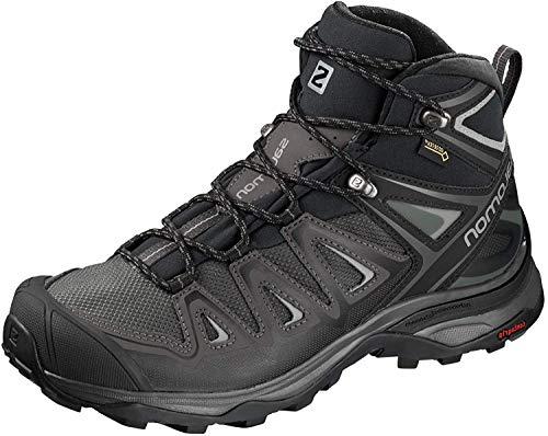 SALOMON Women's X Ultra 3 Mid GTX Walking Shoe, Magnet/Black/Monument, 4 UK