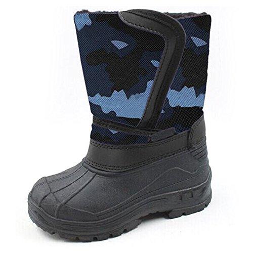 SkaDoo Kids Snow Boots Blue Camo