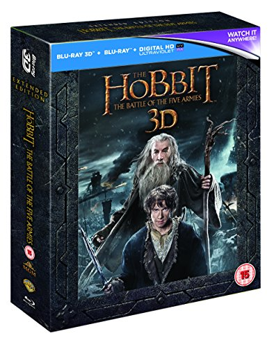 The Hobbit: The Battle Of The Five Armies [Extended Edition] [Blu-ray 3D] [2014] [Region Free]