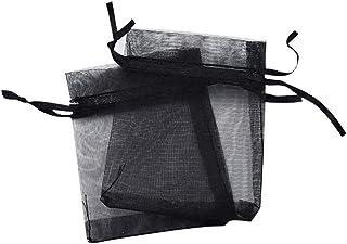 Ogquaton 30 St/ücke Organza Geschenkbeutel Schmuck Kordelzugbeutel Wrap Beutel Hochzeitsfestbevorzugung S/ü/ßigkeitstaschen Schwarz