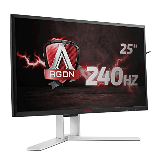 AOC Agon AG251FZ Monitor, 63 cm (24,5 inch), DVI, HDMI, USB-hub, 1 ms reactietijd, displaypoort, 240 Hz, 1920 x 1080 pixels, Free-Sync, zwart