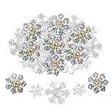 Howaf 300 Stück Schneeflocken Konfetti, Weihnachten Winter deko Schneeflocke Filz Tabelle Konfetti Tischdeko, Weihnachtsschmuck , Hochzeit, Geburtstag, Jahr, Weihnachts Dekorationen
