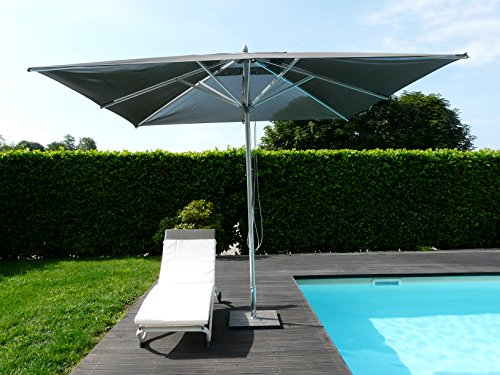 Maffei Art 168Q Pool. Parasol carré cm 300x300, Tissu BATYLINE. Made in Italy. Couleur Taupe