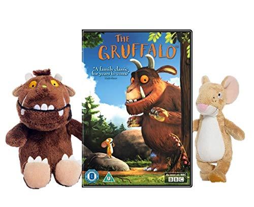 Julia Donaldson The Gruffalo & Mouse 6-inch Soft Toy With The Gruffalo DVD
