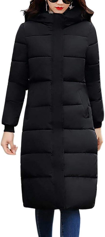 Enjoyment Women's Slim Long Down Jacket Fashion Camouflage Glasses Print Hooded Thickened Cotton Padded Coat Jacket
