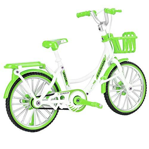 YanyanDz Mini aleación moderna bicicleta modelo modelo bicicleta juguete arte tienda decoración decoración niños niños juguetes verde