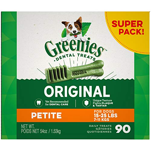 GREENIES Original Petite Dental Dog Treats, 54 oz. Pack (90 Treats)