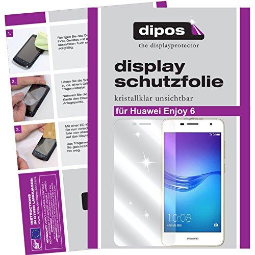 dipos I 2x Protector de Pantalla compatible con Huawei Enjoy 6 pelicula Protectora Claro