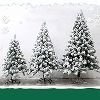 Nileco Christmas Decorations Xmas Tree,for Family Friends Kids Party,Flocking Christmas Tree,Realistic Natural with Metal Stand Artificial Tree