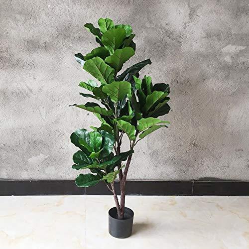 LHKAVE Árboles Artificiales Estilo Europeo y Americano Plantas Artificiales en Maceta Fiddle Leaf Ficus Interior Oficina Familiar al Aire Libre Decoración del hogar,1.2m