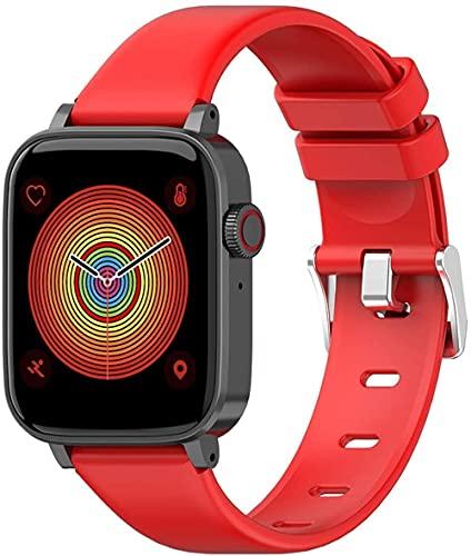 Fitness Tracker 1 54In Hd Pantalla Personalizada Dial Ui Smart Sleep Alarma Multi-Función Ejercicio Pulsera Android e iOS Rojo
