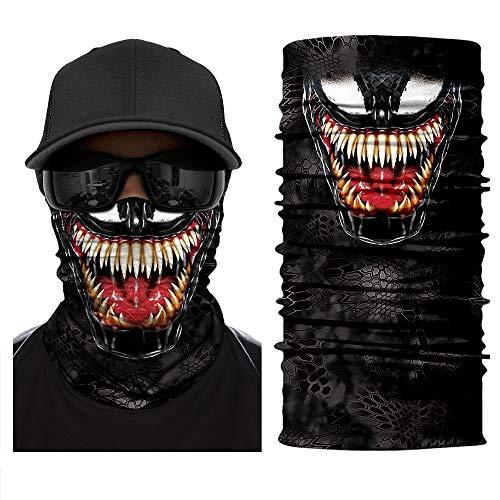 Face Shields - Bedrucktes Multifunktionstuch, Damen Herren Elastische Halstuch Nahtlose Sturmhaube Sturmmaske Schlauchtuch UV Residenz für Yoga Laufen Wandern Radfahren Motorradfahren