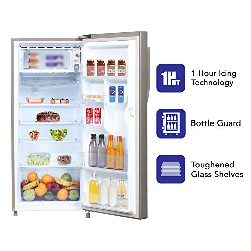 Haier 195 L 4 Star Direct-Cool Single-Door Refrigerator (HED- 20CFDS, Dazzle Steel) 5