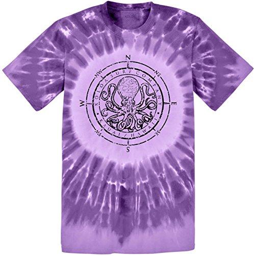 Koloa(tm) Surf Octopus Logo Circle Tie Dye T-Shirt-Purple/b-M